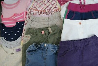 Bundle 13 Baby Girls Clothes 12-18 Months Incl Dresses Tops Jeans Tee Shirts