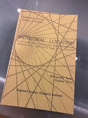 "Rare Hard to find ""Industrial Location"" Antique Book: Perfect condition"