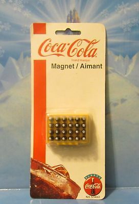 Coca Cola Bottles Case Magnet Yellow Coca-Cola Case 24 Bottle