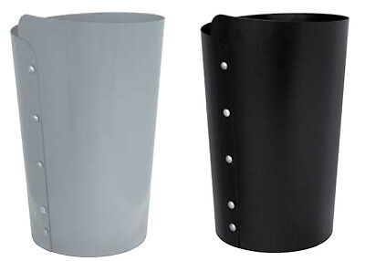 Umbrella Holder Well-Finished With Button Black Metal Grey Stainless Steel