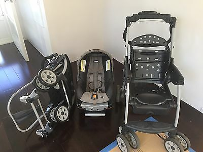 CHICCO Cortina Keyfit 30 Travel System STROLLER, Sedona (USED) Extra New Frame