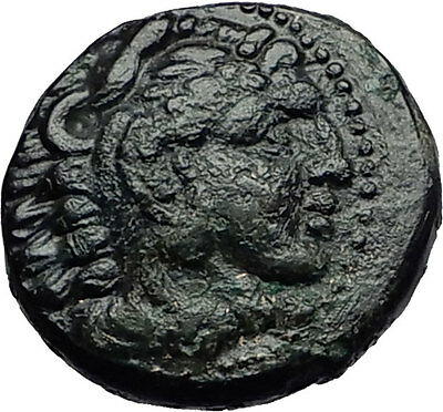 ALEXANDER III the GREAT 332BC Macedonia HERCULES CLUB Ancient Greek Coin i58300
