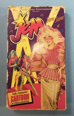 Jem Jam (VHS, 1987) Jem And The Holograms f.h.e. Animated Cartoon