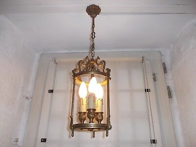 French antique/vintage lantern bronze  to hall way exquisite 3 light ,no glass