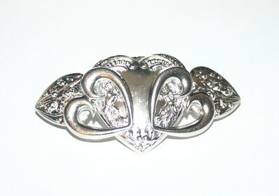 Women's French Fashion Hair Barrette Clip Metal Heart Vintage Valentine's Day