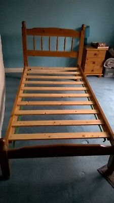 3FT Single Solid Wood Bedstead With Slats Wooden Bed Frame Bedroom Furniture