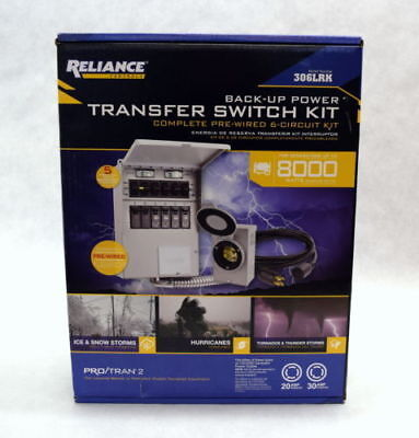 *RELIANCE Controls (306LRK) Back-Up Power Transfer Switch Kit NEW FREE SHIPPING*