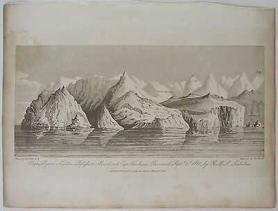 Cape Byam Martin.. A Voyage of Discovery... Capt. John Ross, 1819 Antique Print