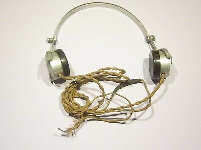 Rare Collectable Vintage Sterling London Crystal Radio Headsets.