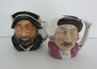 Vintage Pair of Old English Collectible Toby Mugs - Excellent Condition