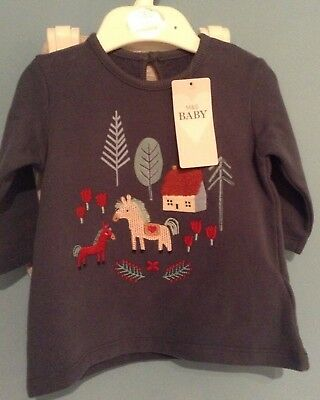 Bnwt M&s Baby Girls Outfit  Tunic Top And Leggings Age 3-6 Months