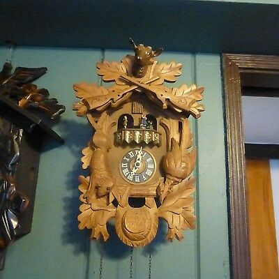 Cuckoo Clock, Hunter Style,musical,3 Weights.30 Hour