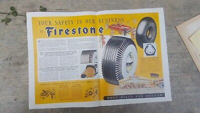 Your Safety is Our Business - Firestone - Magazine Print Ad 1949