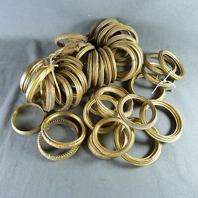 44 Antique French Brass Curtain Hanging Rings Finely Detailed different Ø