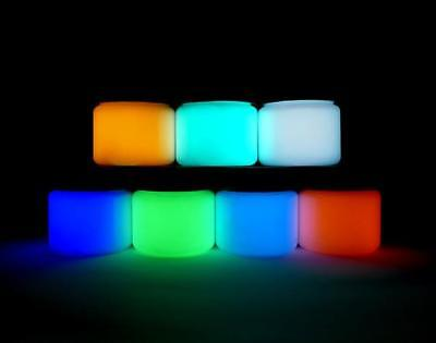 Glow in the Dark Paint, 7 colors, Acrylic Glow Paint, Strontium Aluminate