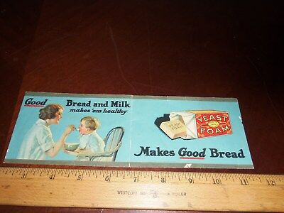Vintage Yeast Foam Label With Recipes
