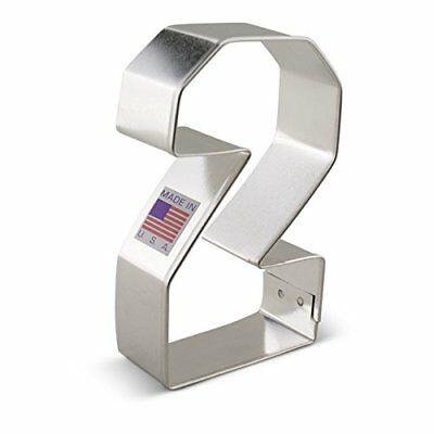 Number Two Cookie Cutter, #2, Ann Clark 3.4 Inches, Tin Plated Steel