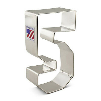 Number Three Cookie Cutter, #3, Ann Clark 3.4 Inches, Tin Plated Steel
