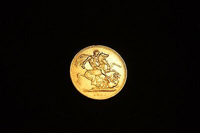 V Rare Gold full Sovereign 1886 Coin Queen Victoria. / St George Slaying Dragon