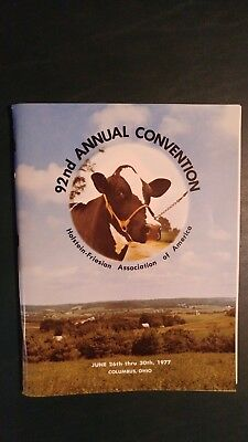 1977 National Holstein-Friesian  Convention Souvenier Book Columbus Ohio