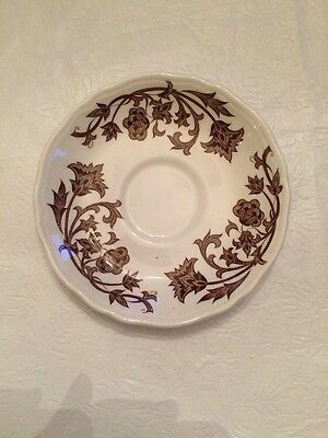 Royal Staffordshire Ironstone England- Windsong- Brown Floral - Saucer