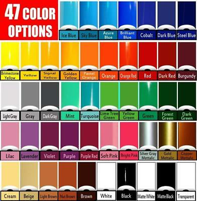 24 ROLLS 5 ft x 12 in You Pick from 52 Colors Oracal 651 Vinyl craft hobby signs