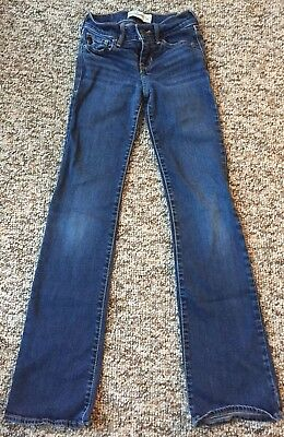 Abercrombie Kids Girls Size 10 Slim Fit Boot Cut Jeans Dark Wash