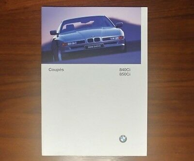 BMW 8 SERIES BROCHURE 1997 E31 840 850Ci COUPE V8 V12 COLLECTIBLE ADVERTISING