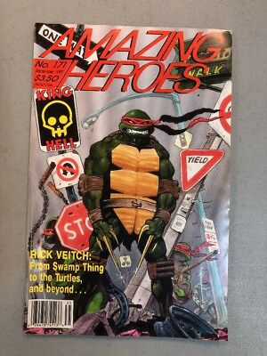 Amazing Heroes 171 Tmnt Teenage Mutant Ninja Turtles Cover 1981