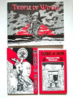 *new* CREED OF IRON + TEMPLE OF WOTAN + MIGHT IS RIGHT-3 Wotansvolk books $88.14