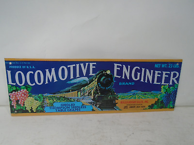Locomotive Engineer Seedless Grapes Sign 4 X12 ALUMINUM
