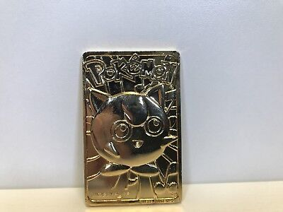 LIMITED EDITION 1999 Burger King Pokemon Jigglypuff 23K Gold-Plated Card
