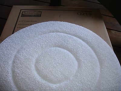 "NEW 10 COMMERCIAL RUBBERMAID 5 per B0X. 19"" MICROFIBER CARPET BONNETS; MULTIPLES"