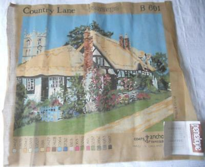 Vintage Large Printed Penelope Tapestry Canvas Country Lane