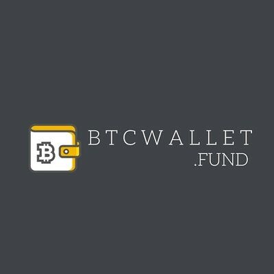 BTCwallet.fund BRANDABLE Domain Name Bitcoin BTC Website Cryptocurrency Wallet
