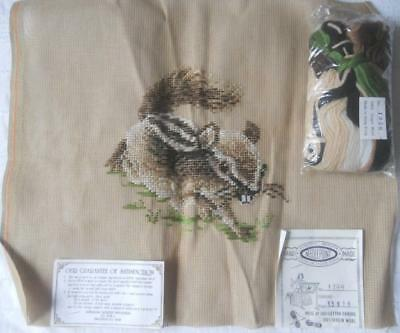 Vintage Tramme Tapestry Kit Chipmunk Includes All Yarns