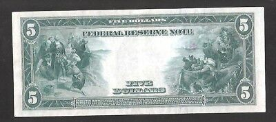 Beautiful Type-A 1914 New York $5 Large Federal Reserve Note