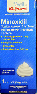 5% Foam Minoxidil Hair Regrowth Treatment for Men One Month Supply exp 2019