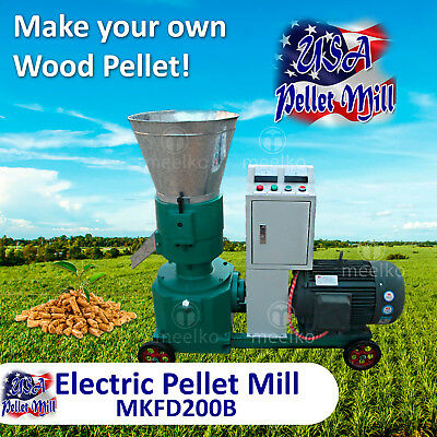 Electric Pellet Mill For Wood - MKFD200B - Free Shipping