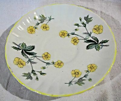 Royal Stafford Saucer, Made in England, Bone China, Bright Yellow Flowers
