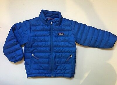 Patagonia Down Sweater Coat Boy Girl Blue Size 3 3T
