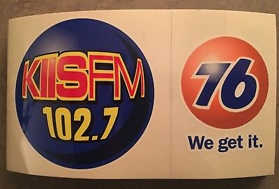 102.7 KIIS FM Radio Bumper Sticker. 1990's.