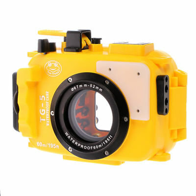 60m Waterproof Diving Underwater Housing Case Cover For Olympus TG5 TG-5 Yellow
