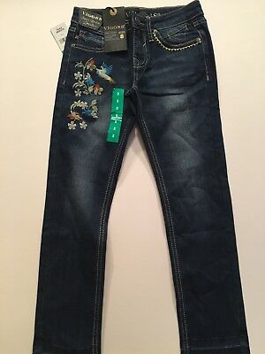 Girls Blue Dark Wash Vigoss Super Stretch Skinny Jeans NWT
