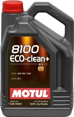 Motul 8100 Eco-Clean+ 5W-30 100% Synthetic Engine Oil 5L