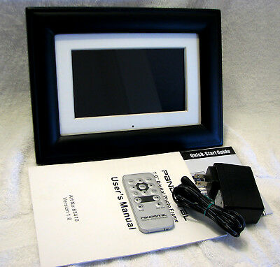"Pandigital 7"" Digital Photo Picture Frame Card Reader 256 MB (PAN705-B)"
