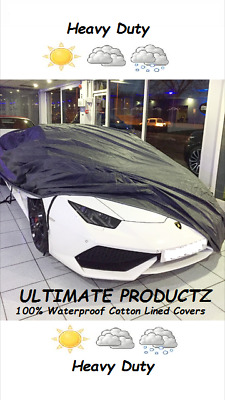 Winter Waterproof Full Car Cover Cotton Lined For Peugeot 308 Hatchback 14-On