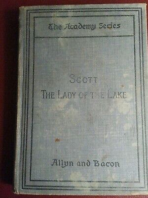 1888 The Lady Of The Lake. The Academy Series Sir Walter Scott Hardcover Book