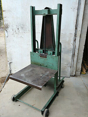 Die Lift Hand Platform Dolly Truck Stacker - 1000 lbs Capacity - Two Speeds