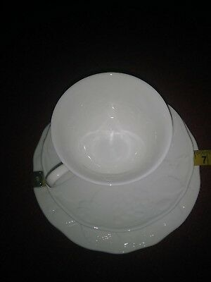 Wedgwood Strawberry & Vine White Cup, Saucer and Dessert or Bread Plate Trio